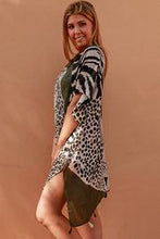 Load image into Gallery viewer, Olive Leopard Boho | Kimono