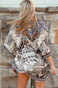 Tribal Earth Chiffon Bohemian | Kaftan