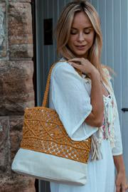 Boho Macrame Straw | Bag