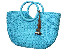 Load image into Gallery viewer, Monsoon Woven Shopper Basket | Bag