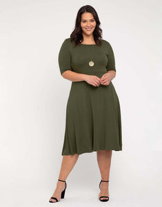 Bamboo Body Harmony Dress in Dark Olive