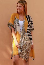 Load image into Gallery viewer, Mustard Leopard Boho | Kimono