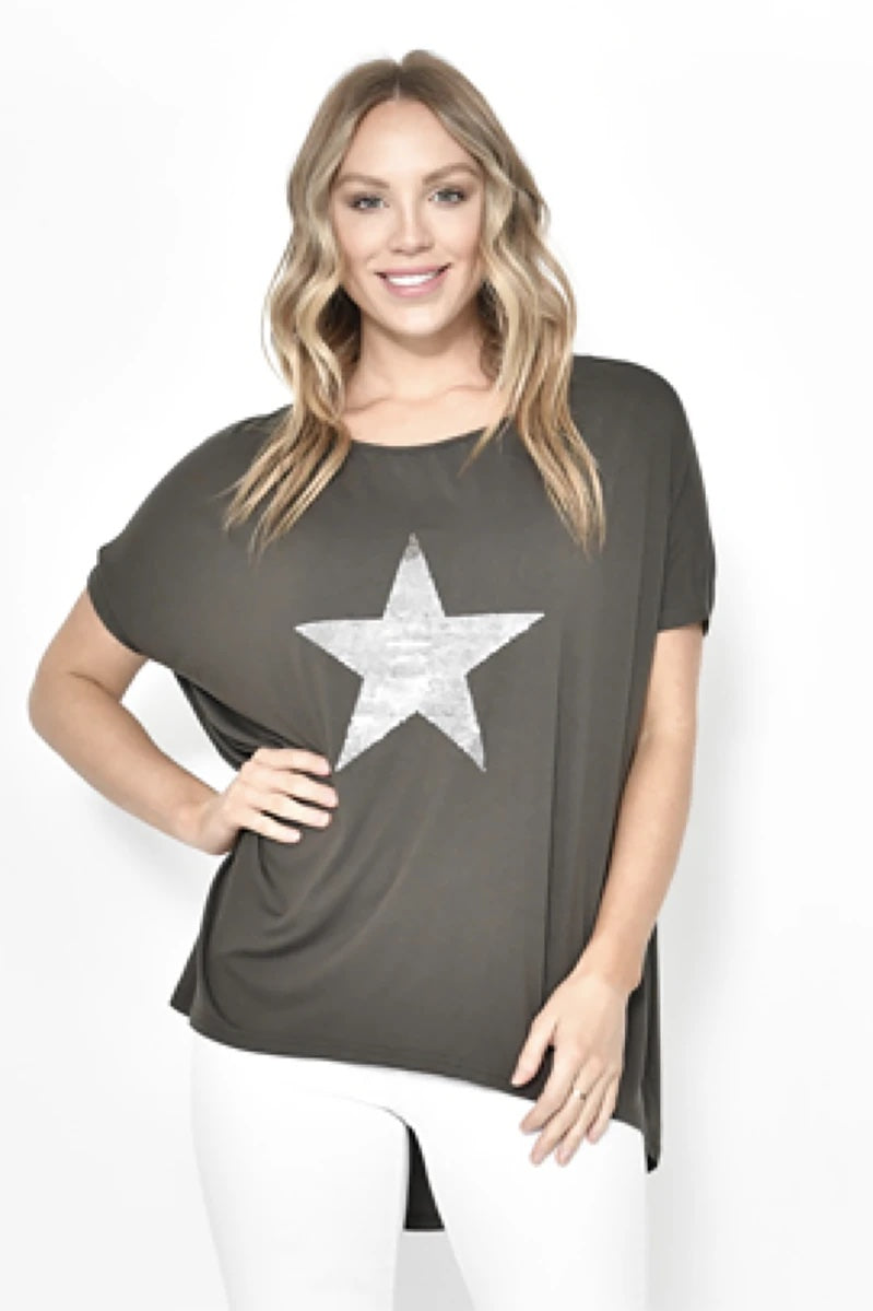 Khaki Star Women's Sequin | Top