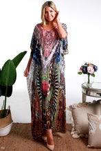 Load image into Gallery viewer, Wild Chiffon Boho Summer | Kaftan Dress ~ ONE LEFT IN STOCK!