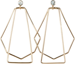 Geometric Large Gold | Earrings