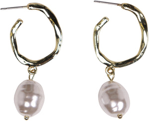 Pearl Drop Hoop | Earrings