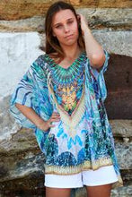 Load image into Gallery viewer, Sky Blue Chiffon | Kaftan Top