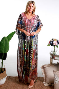 Wild Chiffon Boho Summer | Kaftan Dress ~ ONE LEFT IN STOCK!