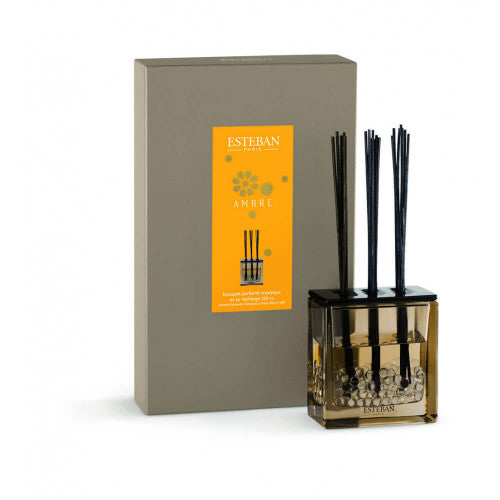 Esteban Paris-Ambre 250 ml Cam Hazneli Diffuser Set-Luxuria