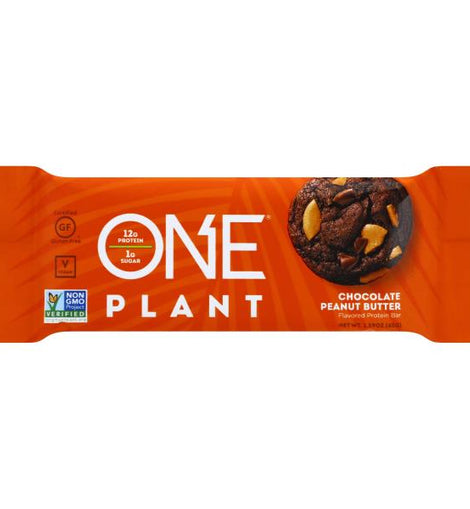 ONE PLANT PROTEIN BAR - CHOCOLATE PEANUT BUTTER - San Mateo Sports Nutrition
