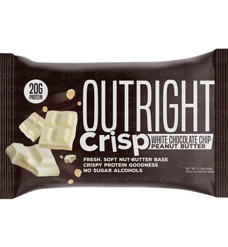 OUTRIGHT CRISP PROTEIN BAR - WHITE CHOCOLATE CHIP PEANUT BUTTER - San Mateo Sports Nutrition