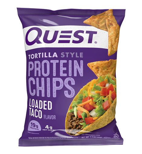 QUEST TORTILLA STYLE PROTEIN CHIPS - LOADED TACO - San Mateo Sports Nutrition