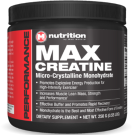 Creatine 250 & 500 grams by Max Muscle Nutrition - San Mateo Sports Nutrition
