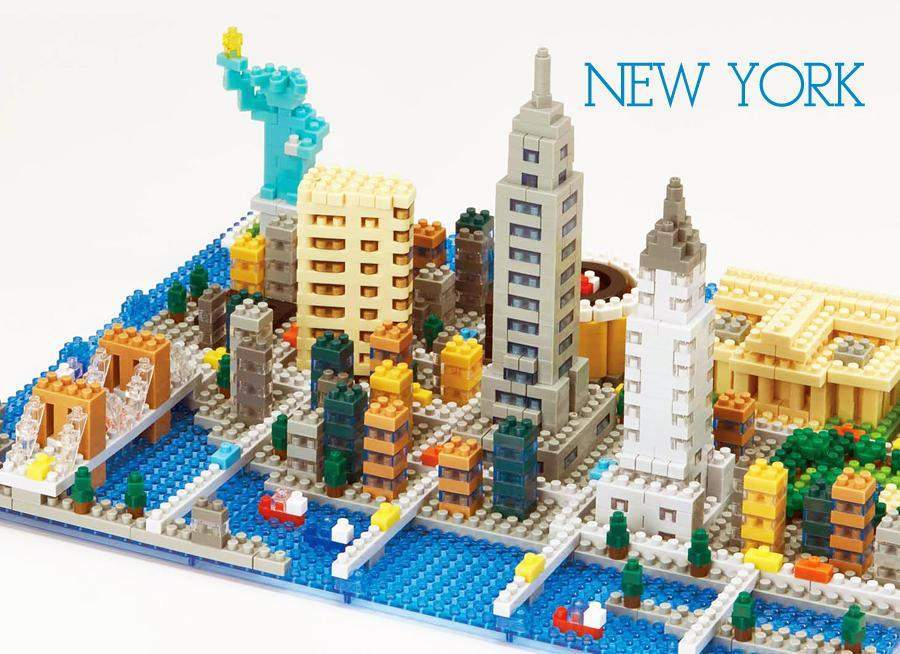 ננובלוק - ניו יורק / New York NB033-Nanoblock-Shoppu