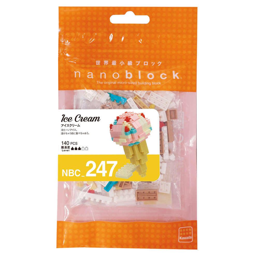 ננובלוק - גלידה / Ice Cream NBC247-Nanoblock-Shoppu