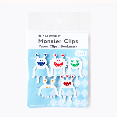 אטבי נייר Monster Clips - לבן-Sugai World-Shoppu