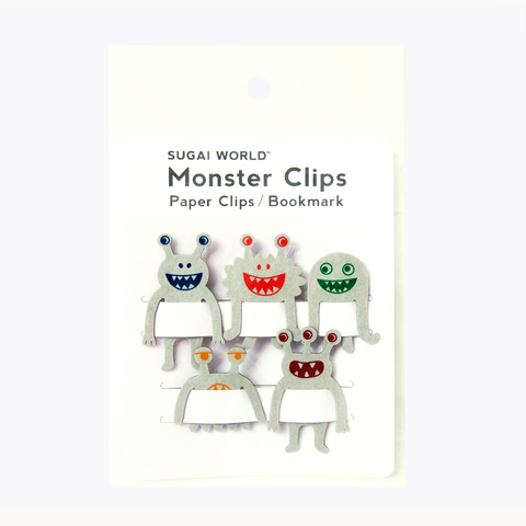 אטבי נייר Monster Clips - אפור-Sugai World-Shoppu