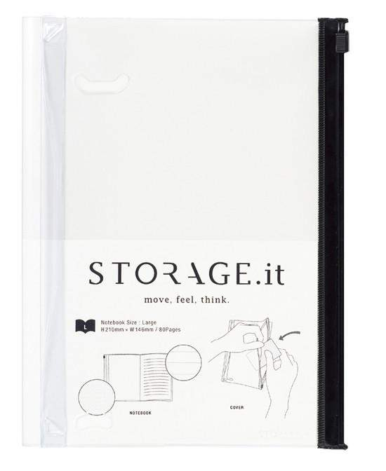 מחברת/נרתיק לבנה Storage it - size L-Marks-Shoppu