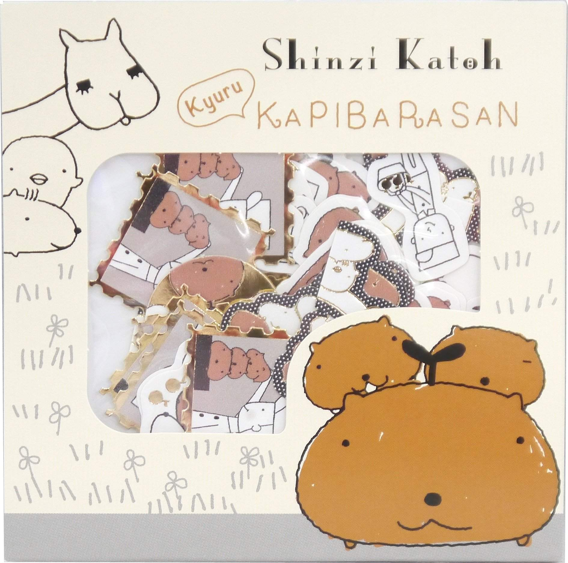 מדבקות סיפור- פירות / Kapibara Every Day-Shinzi Katoh - SD-Shoppu
