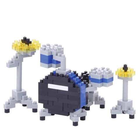 ננובלוק - סט תופים כחול / Drum Set Blue NBC172-Nanoblock-Shoppu