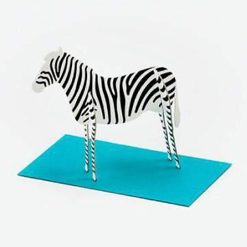 כרטיס ברכה זברה / Good Morning Message Card - Zebra-good morning-Shoppu