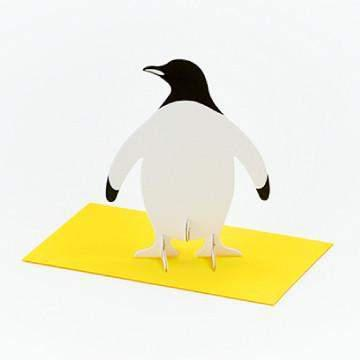כרטיס ברכה פינגווין / Good Morning Message Card - Penguin-good morning-Shoppu