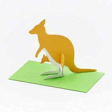 כרטיס ברכה קנגרו / Good Morning Message Card - Kangaroo-good morning-Shoppu