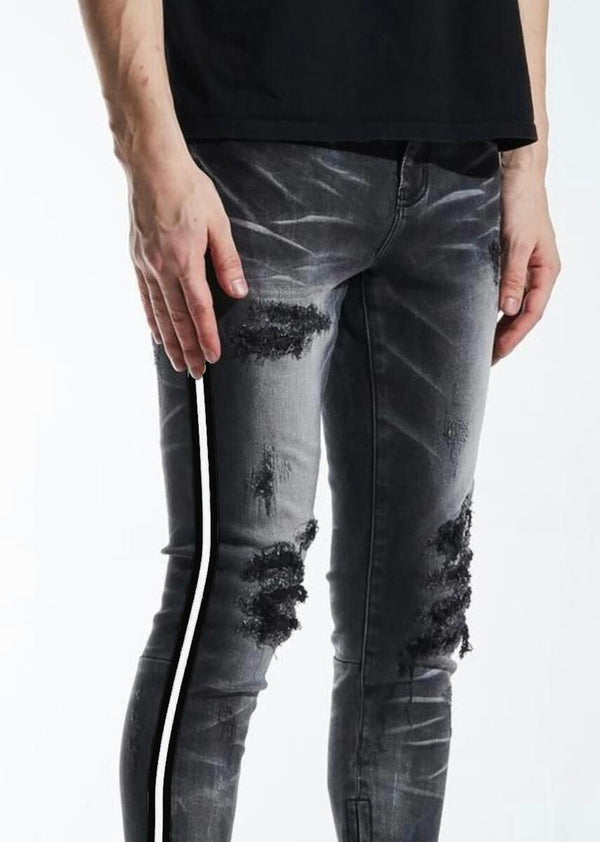 Crysp Denim-Black/White Line Denim-Black