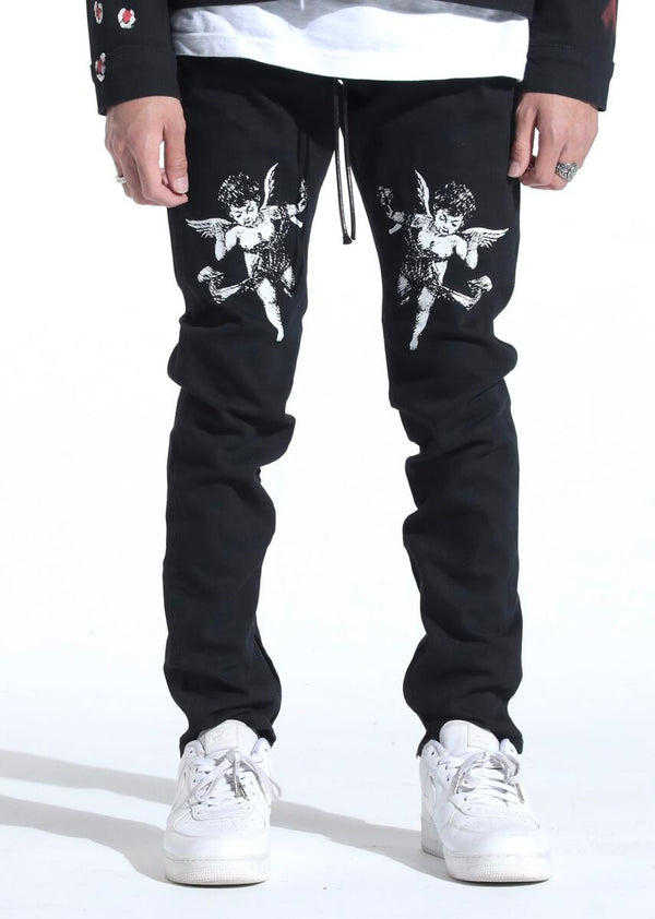 "Lifted Anchors-""Cherub"" Denim-Black"