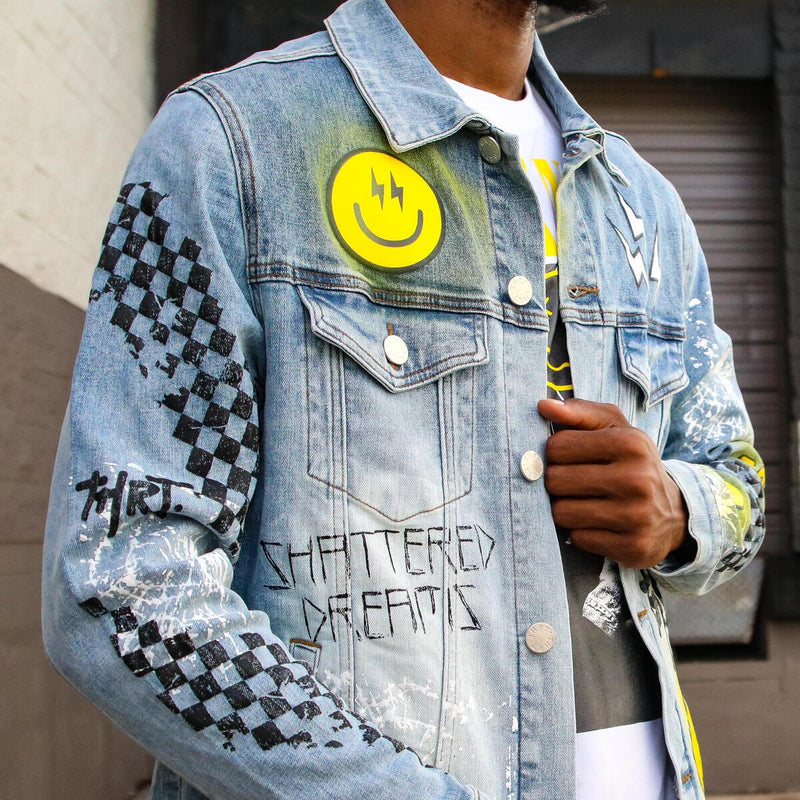 THRT-Shattered Dreams Jacket Yellow-Blue