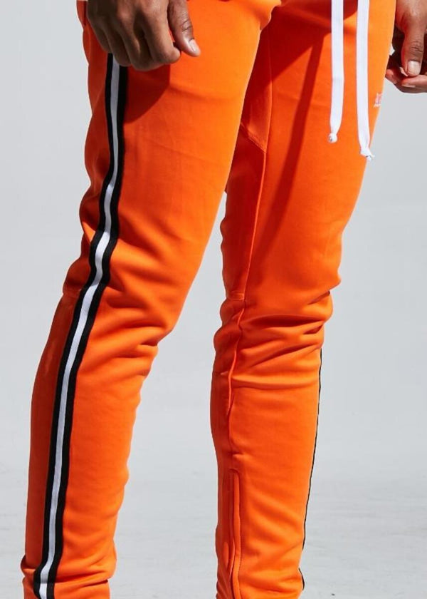 Karter Collection-Rafi Track Pants-Orange