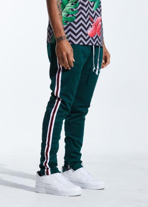 Karter Collection-Rogers Track Pants-Forest Green