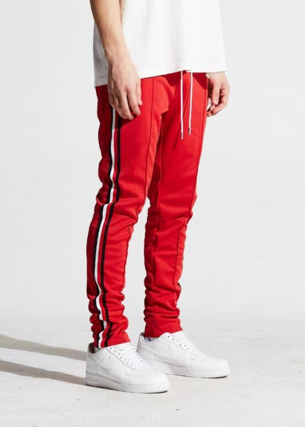 Karter Collection-Jones Track Pants-Red