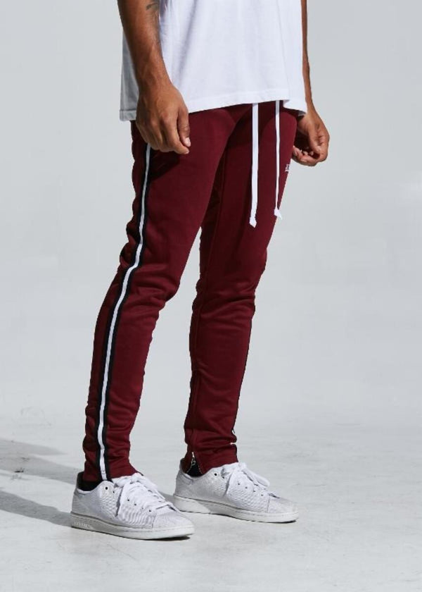 Karter Collection-Rocco Track Pants-Burgundy