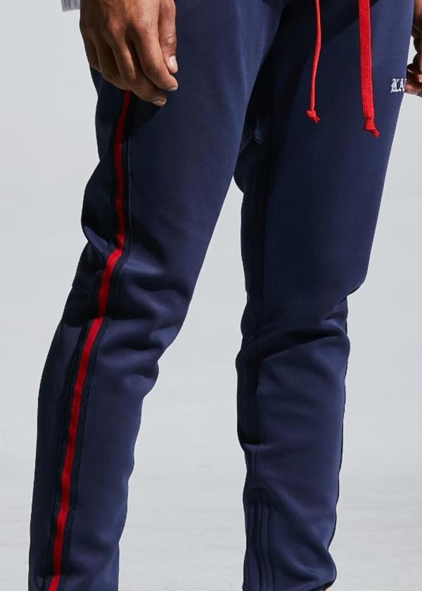 Karter Collection-Porush Track Pants-Navy