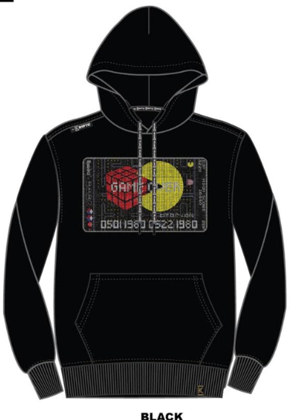 deKryptic x Rubik's x Pac-Man-Game Credit Stoned Hoodie-Black