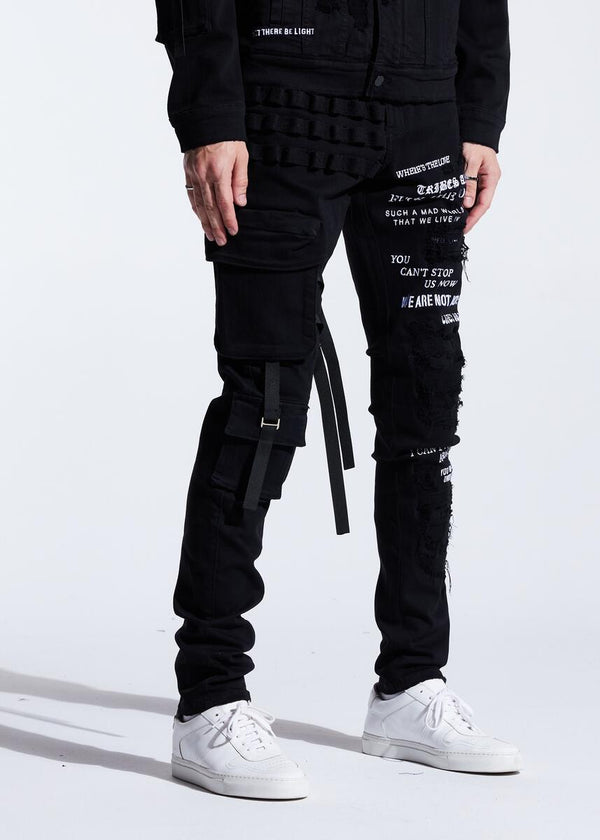 Embellish NYC-Raider Cargo Denim-Black Split