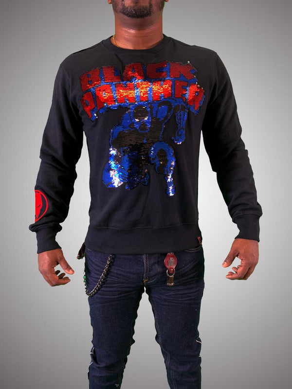 De Kryptic-Black Panther Crewneck Sequined-Black