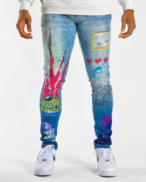 Sugarhill-Anxiety Jeans-Blue Ombre