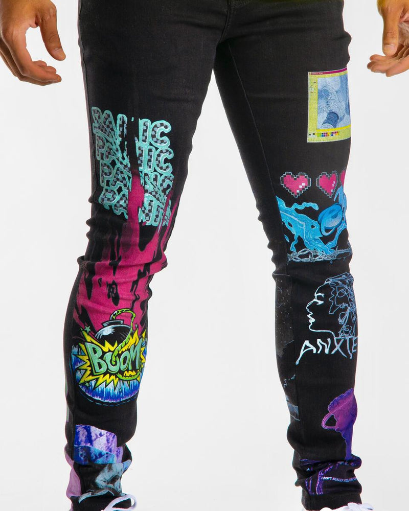 Sugarhill-Anxiety Jeans-Black
