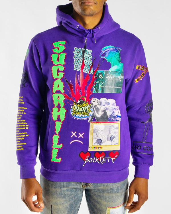 Sugarhill-Anxiety Hoodie-Purple