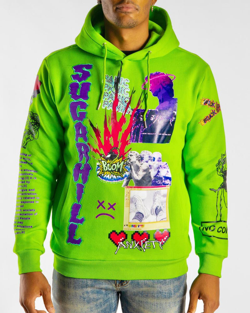 Sugarhill-Anxiety Hoodie-Lime Green
