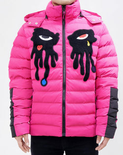 Roku Studio-Tear Drip Bubble Jacket-Pink