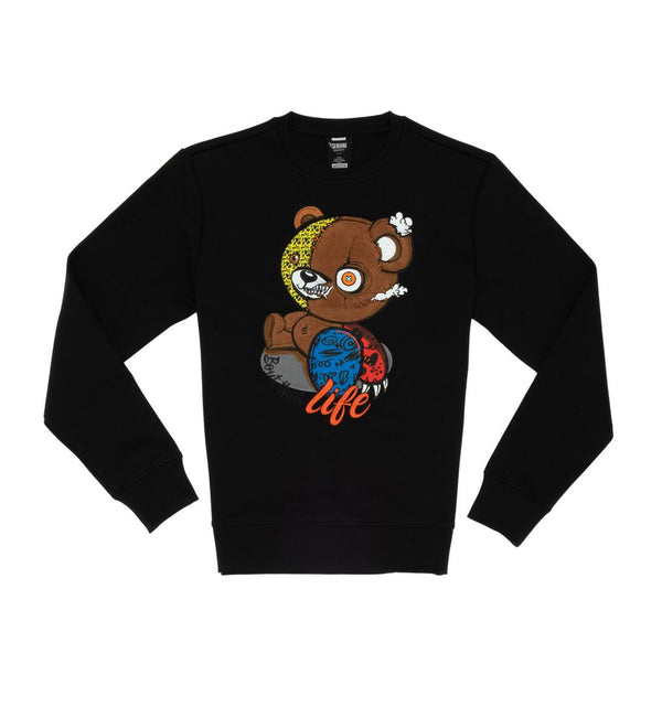 Genuine-Bear Life Crewneck-Black