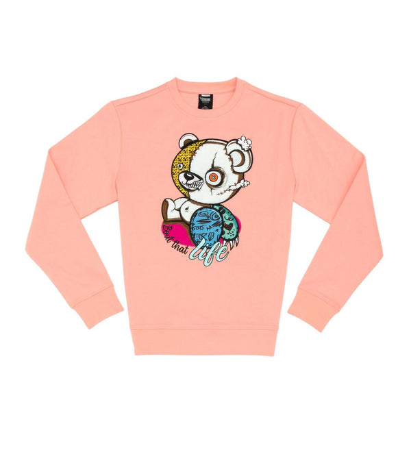 Genuine-Bear Life Crewneck-Pink
