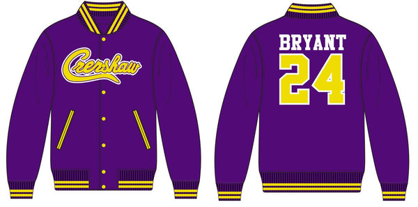 Headgear Classic-Kobe Bryant Crenshaw Satin Jacket-Purple