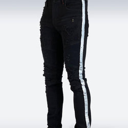 Preme Jeans-Sequin Side Tape-Black