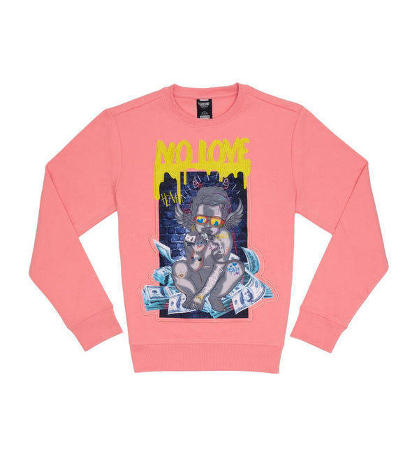 Genuine-No Love Crewneck-Pink