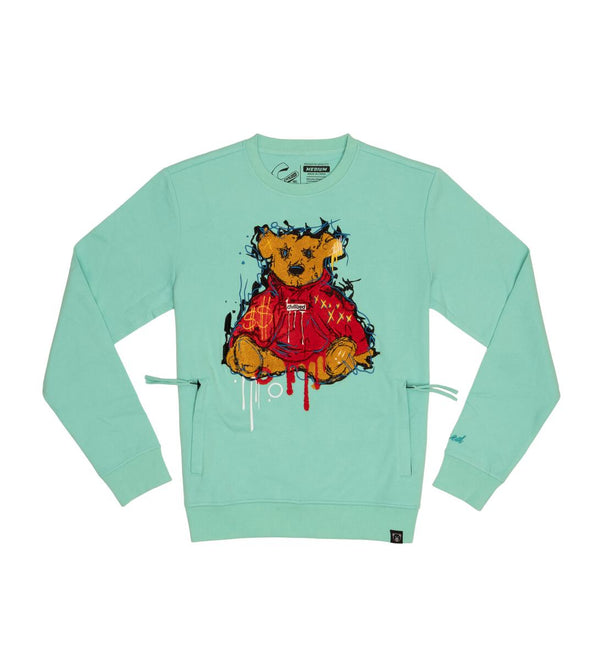 Civilized-Bear Crewneck-Mint