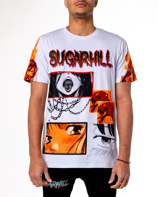 Sugarhill-Sunset T-Shirt-White
